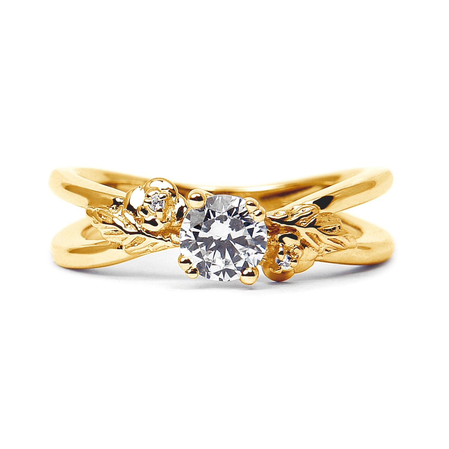 engagement products ring in with claw yellow diamond gold rings set ethical
