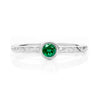 Hera Ethical Emerald Gemstone Engagement Ring, Platinum