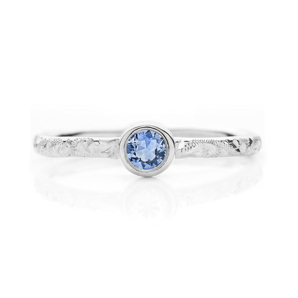 Hera Ethical Blue Sapphire Gemstone Engagement Ring, Platinum