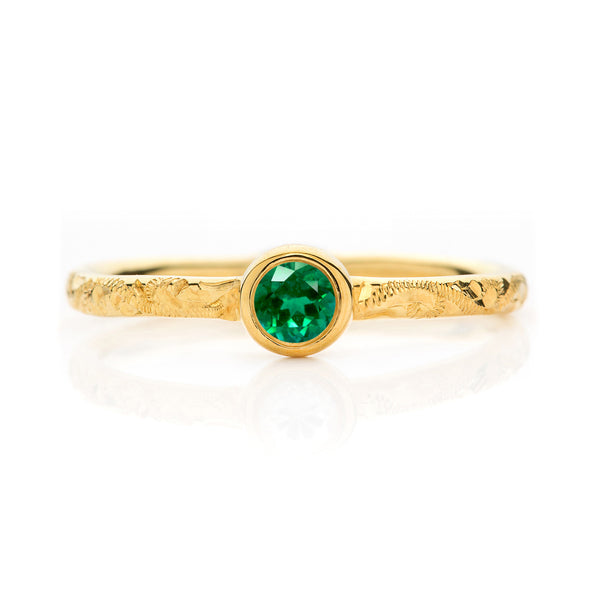 Hera Ethical Emerald Gemstone Engagement Ring, 18ct Ethical Gold