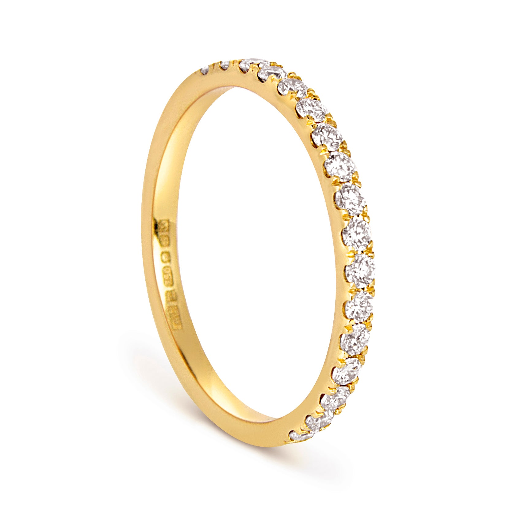 Altair Half Microset Ethical Ring, Diamond & 18ct Fairtrade Gold