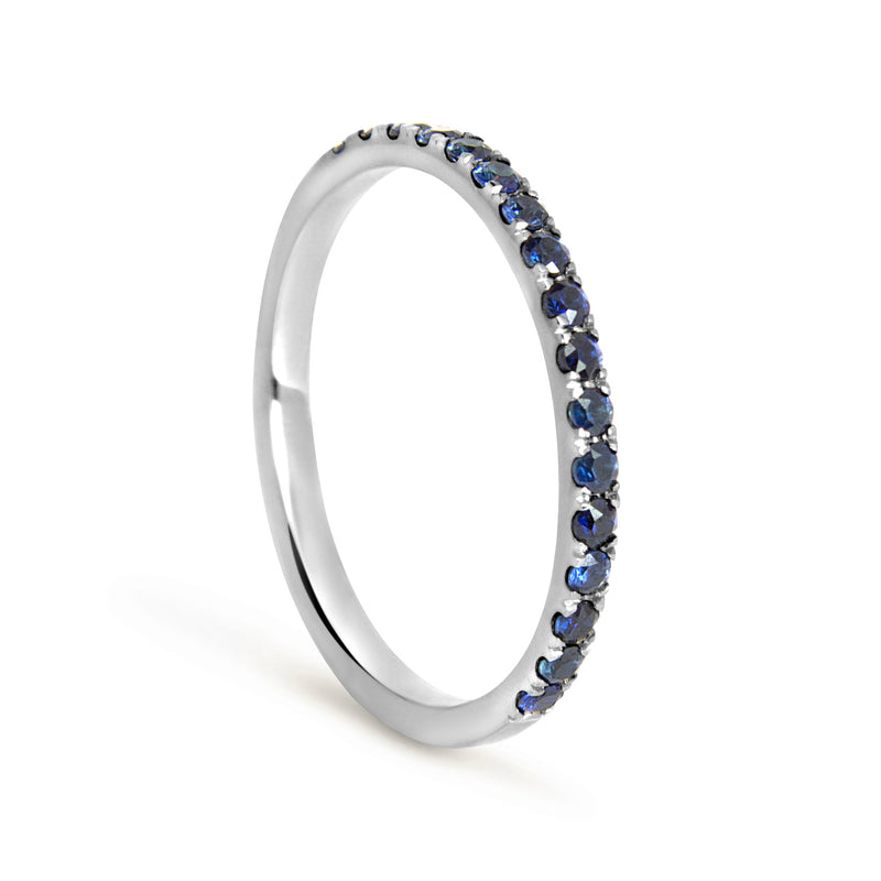 Altair Full Microset Ethical Ring, Blue Sapphire & 18ct Fairtrade Gold