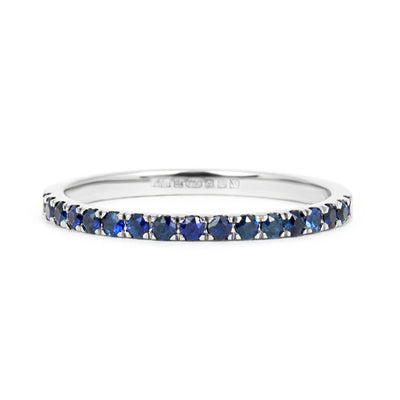 Altair Half Microset Ethical Ring, Blue Sapphire & 18ct Fairtrade Gold