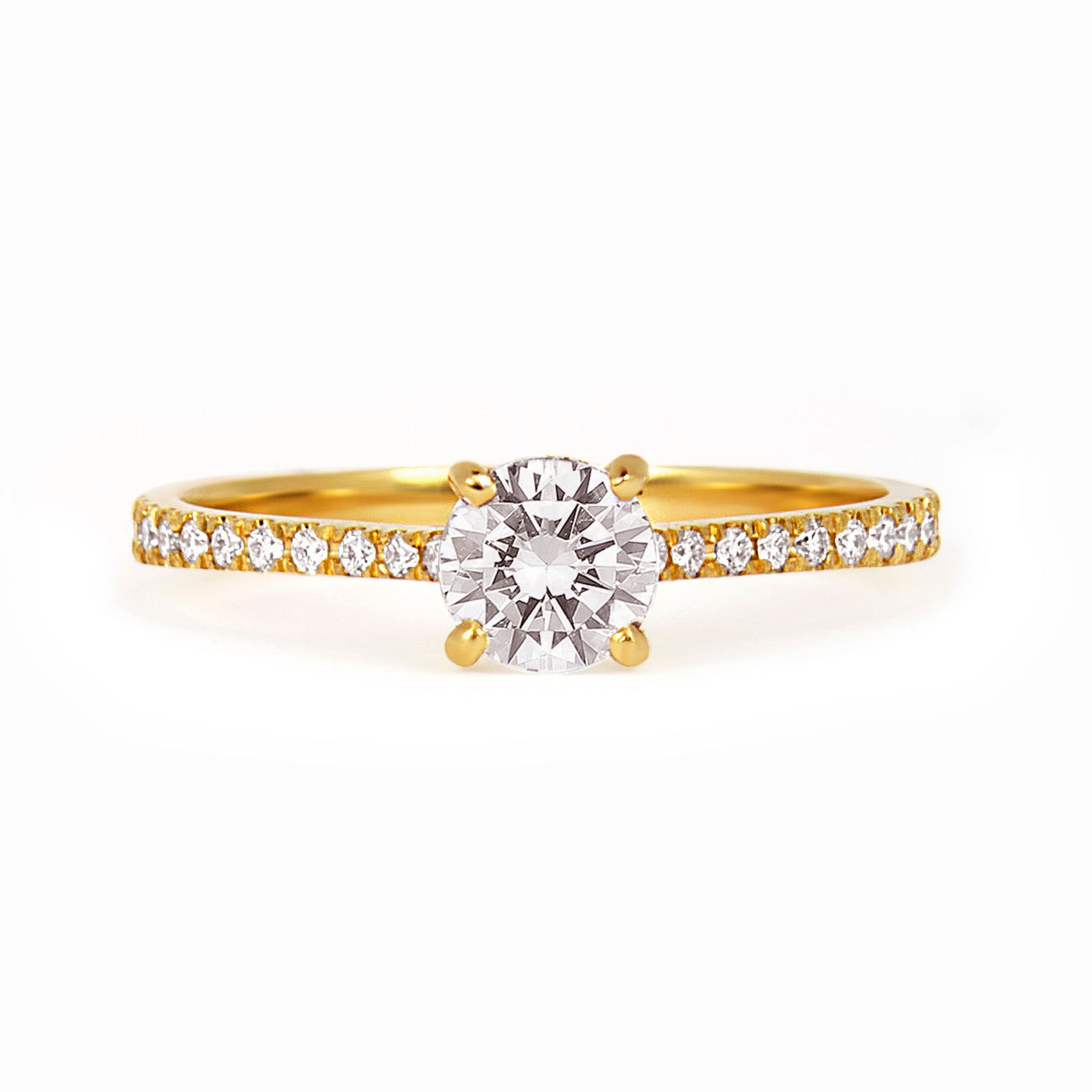 classic diamond ethical pin white ring oro wedding solitaire vrai engagement vow the gold rings