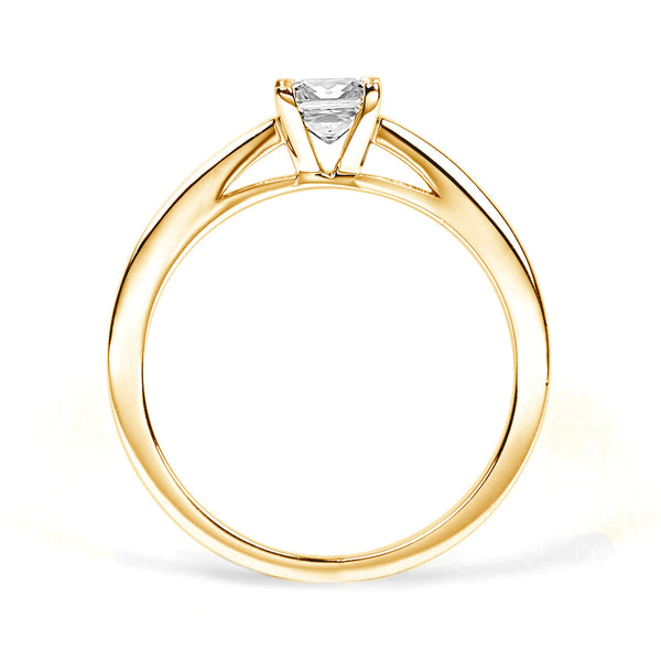 Nova Ethical Diamond Engagement Ring, 18ct Fairtrade Gold