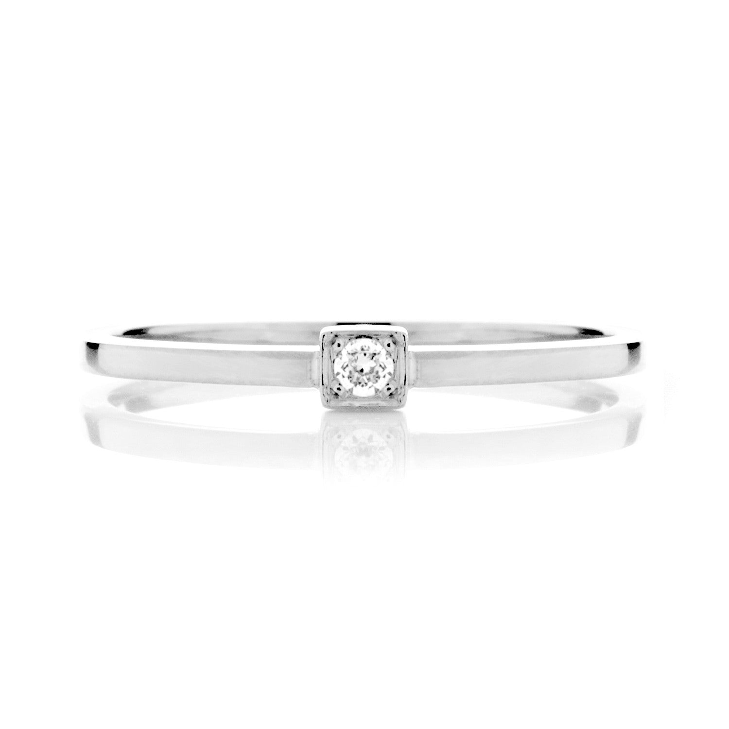 Peace Ethical Diamond Platinum Engagement Ring