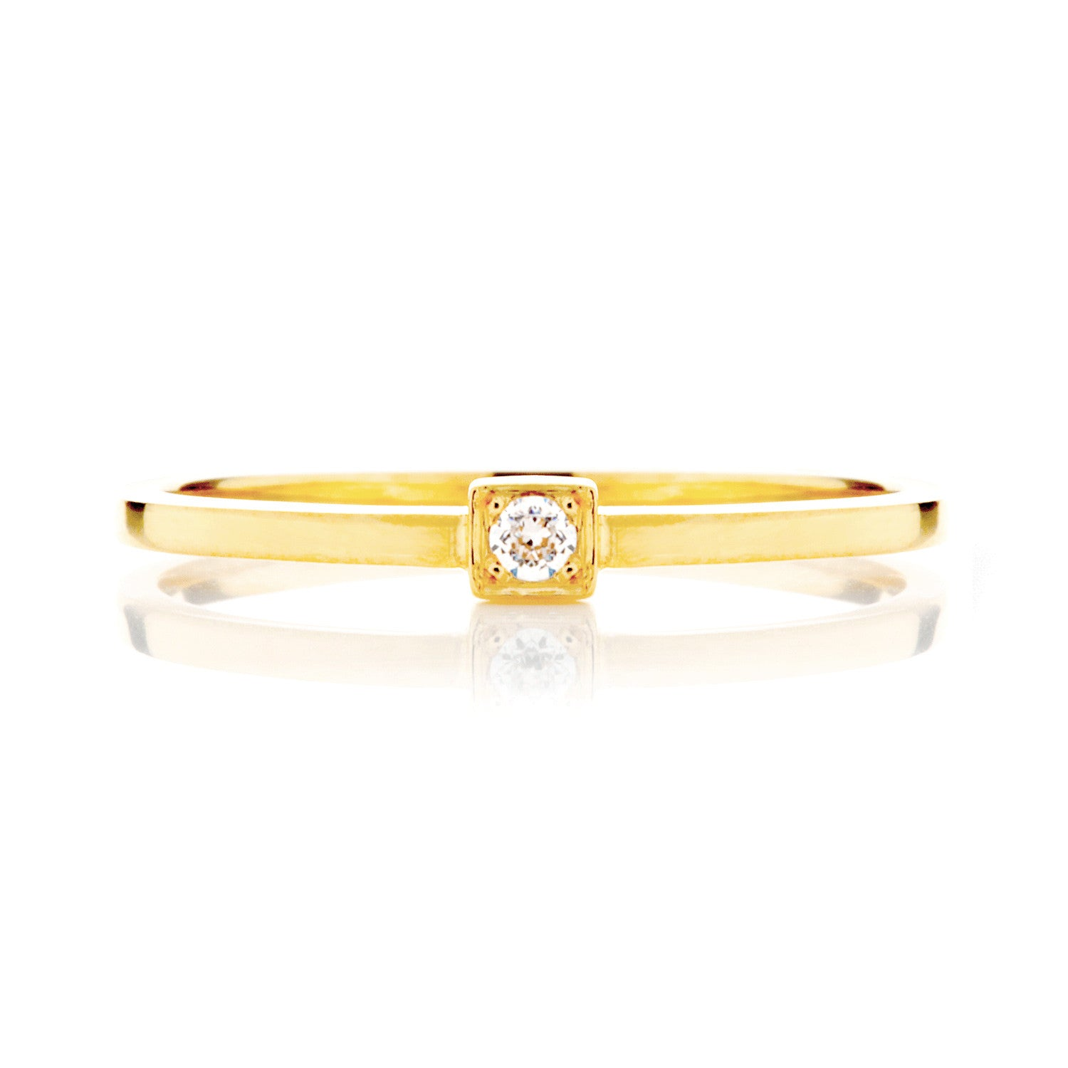 Peace Ethical Diamond Engagement Ring, 18ct Fairtrade Gold