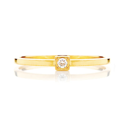 Peace Ethical Diamond Gold Engagement Ring