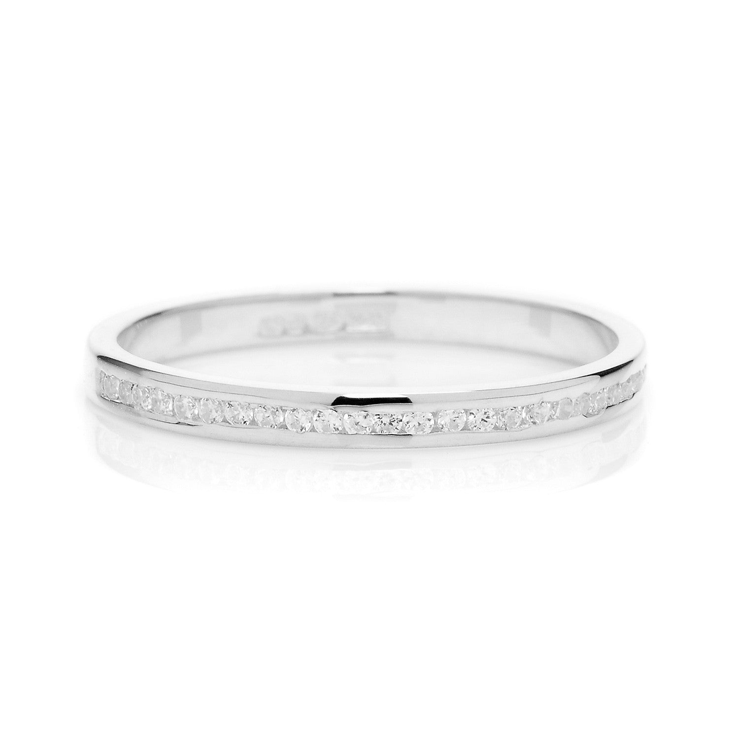 Promise Half Diamond Ethical Platinum Eternity Wedding Ring
