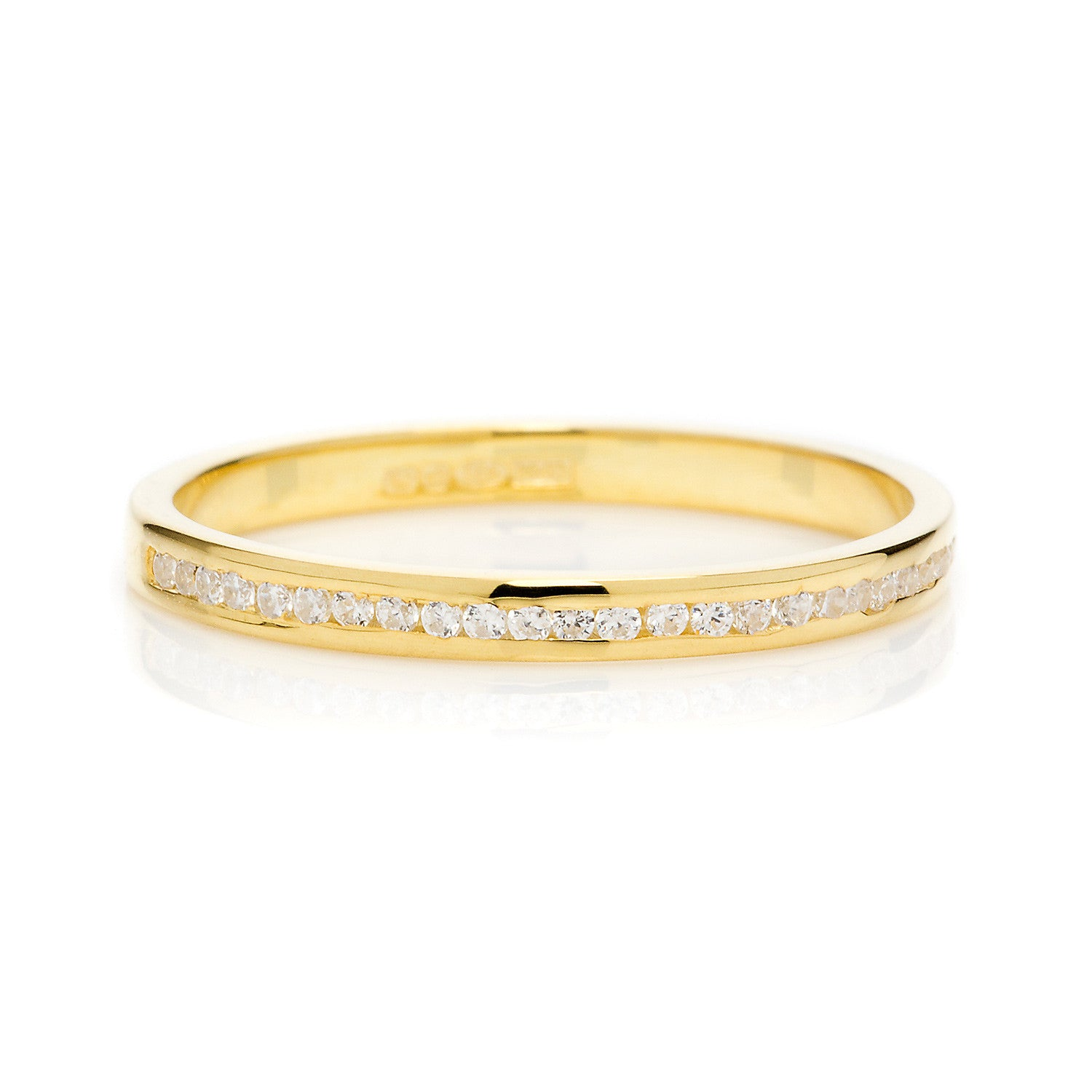 Promise Full Diamond Ethical Gold Eternity Wedding Ring