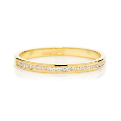 Promise Half Diamond Ethical Gold Eternity Wedding Ring