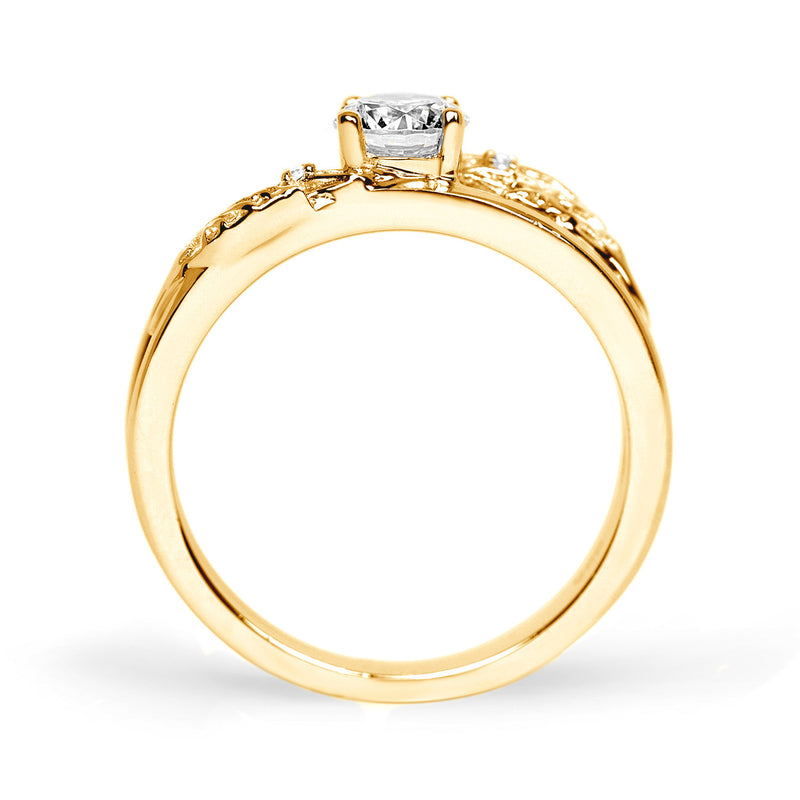Royal Oak Ethical Diamond Engagement Ring, 18ct Fairtrade Gold
