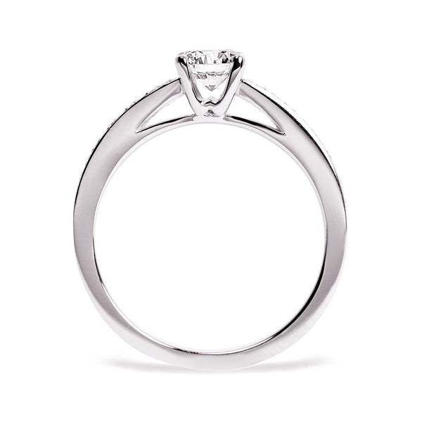 Solar Eclipse Ethical Diamond Platinum Engagement Ring