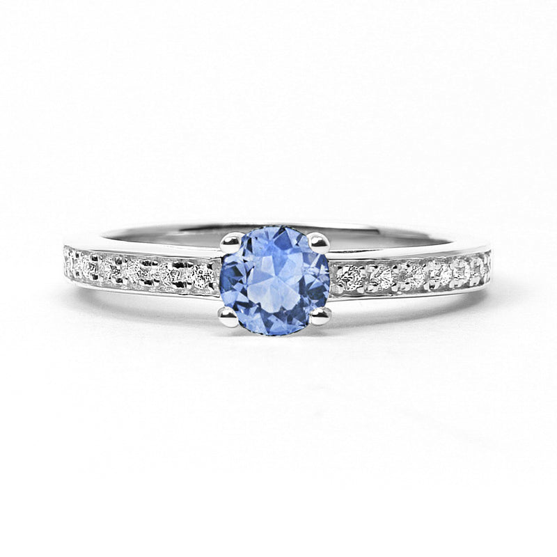 Solar Eclipse Ethical Sapphire Engagement Ring, 18ct Ethical Gold