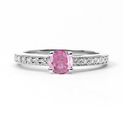 Solar Eclipse Ethical Ruby Engagement Ring, 18ct Ethical Gold