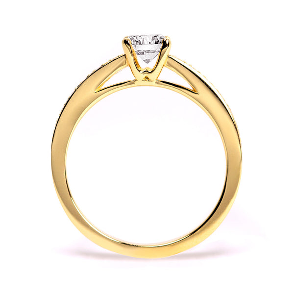 Solar Eclipse Ethical Ruby Gemstone Engagement Ring, 18ct Fairtrade Gold
