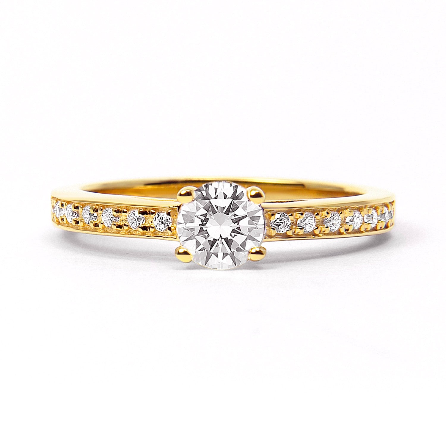 Solar Eclipse Ethical Diamond Engagement Ring, 18ct Fairtrade Gold