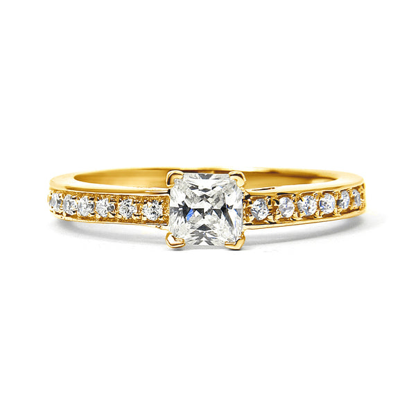 Supernova Ethical Diamond Engagement Ring, 18ct Fairtrade Gold