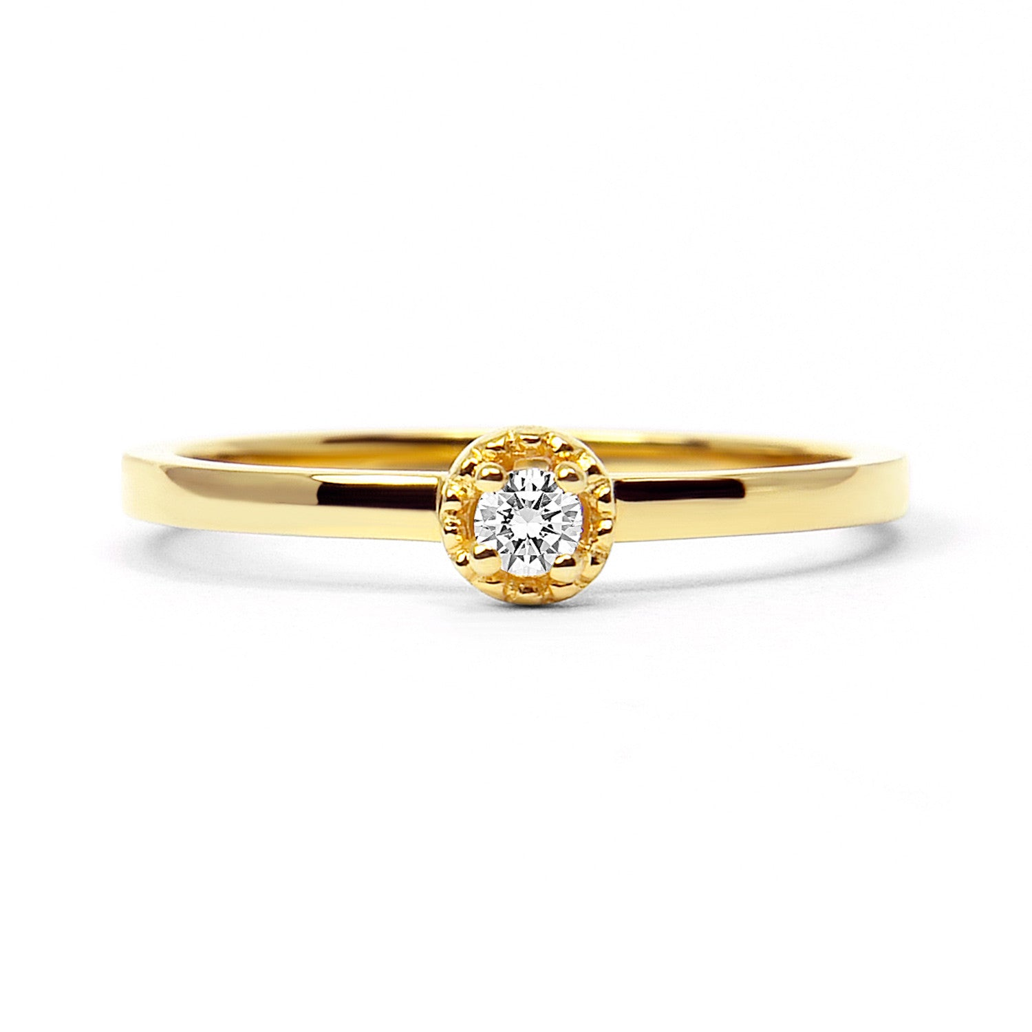 Serenity Ethical Diamond Engagement Ring, 18ct Fairtrade Gold