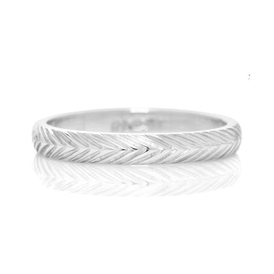 Wheat Sheaf Ethical Gold Wedding Ring, 3mm 2