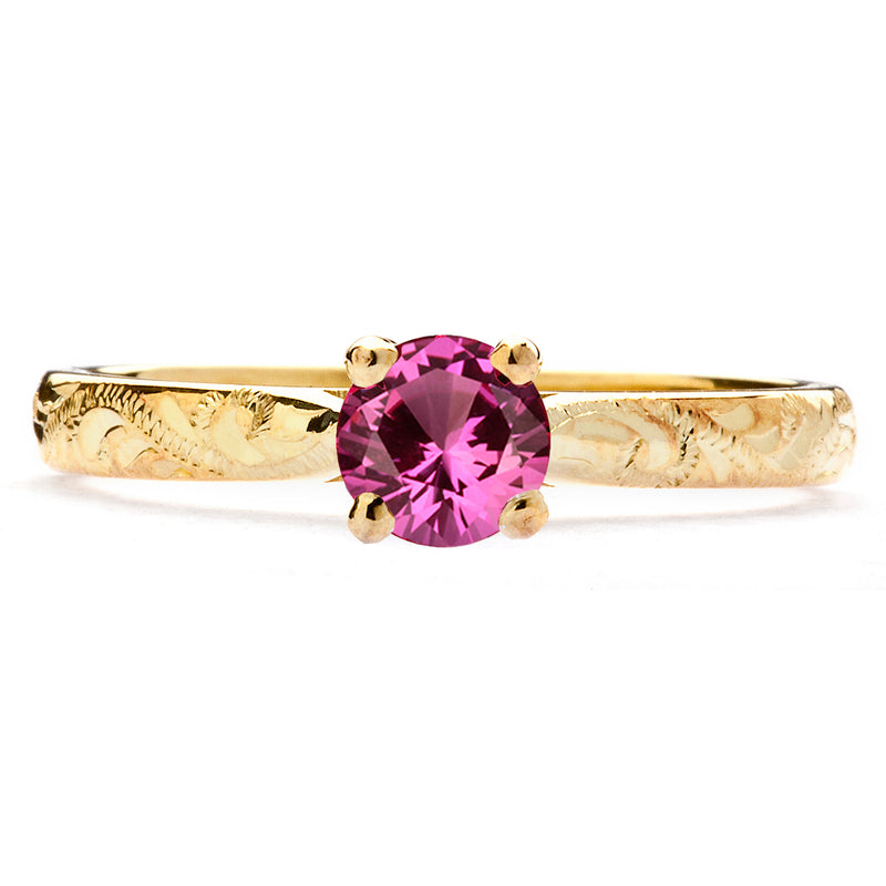 Athena Ethical Ruby Gemstone Engagement Ring, 18ct Fairtrade Gold
