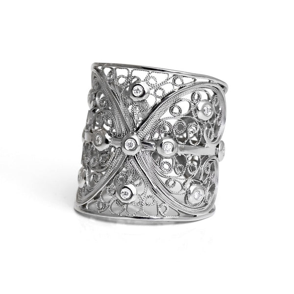 Bespoke Jewellery - Maureen Diamond Filigree ring - Arabel Lebrusan