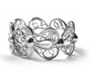 Filigree Enchanting Heart Ring in Silver - Arabel Lebrusan
