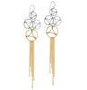Lace Two-Tone Drop Earrings. Gold & Silver