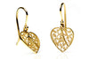 Heart Filigree Earrings. Yellow Gold