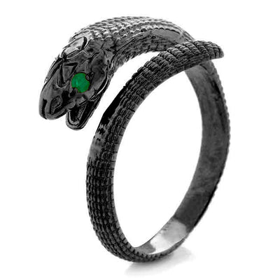 Cobra ring. Black