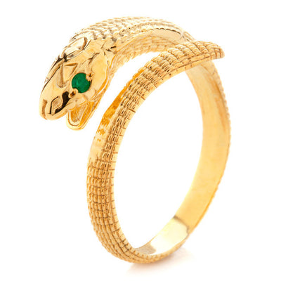 Cobra ring. Yellow Gold