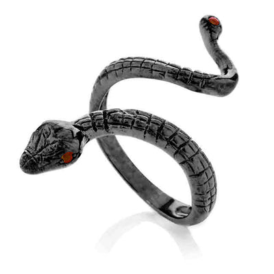 Anaconda ring. Black
