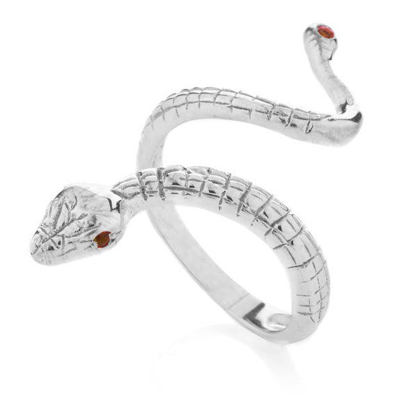 Anaconda ring. Silver