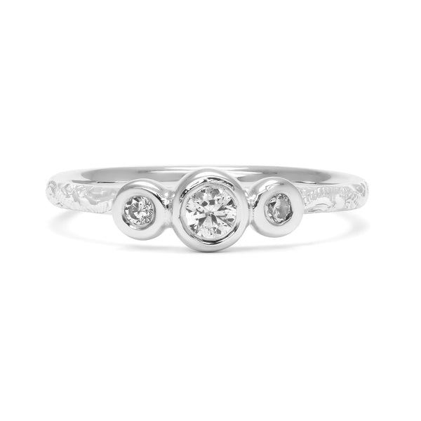 Demeter Trilogy Ethical Diamond Engagement Ring, Platinum