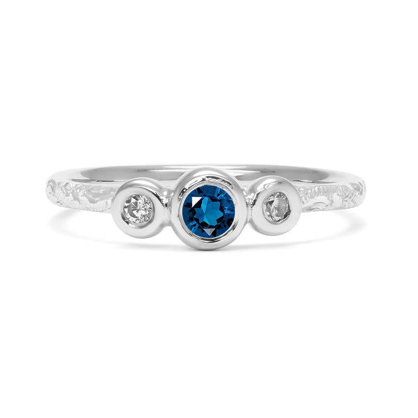 Demeter Trilogy Ethical Sapphire Engagement Ring, Platinum