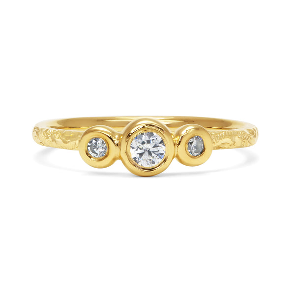 Demeter Trilogy Ethical Diamond Engagement Ring, 18ct Ethical Gold
