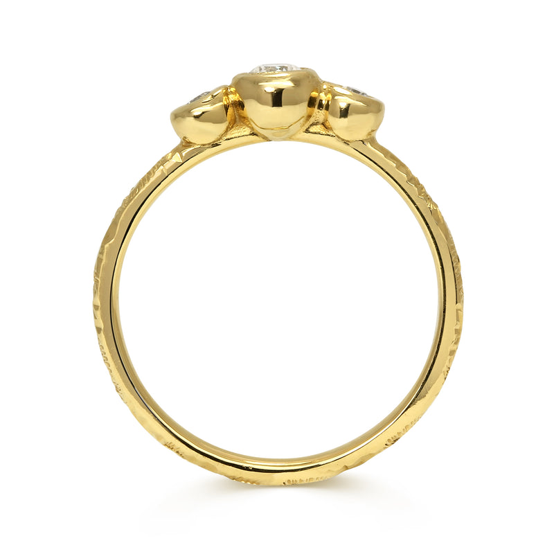 Demeter Trilogy Ethical Diamond Engagement Ring, Gold