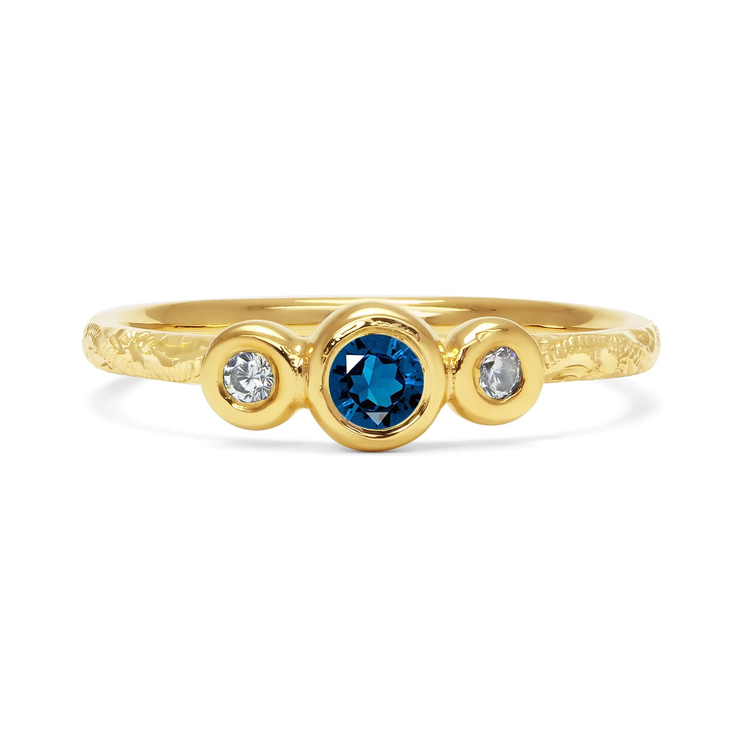 Demeter Trilogy Ethical Sapphire Engagement Ring, 18ct Ethical Gold