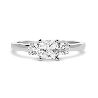 Carina Ethical Diamond Trilogy Recycled Platinum Engagement Ring