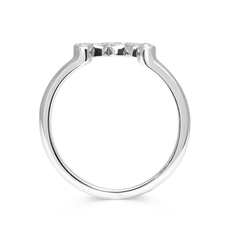 Diamond Coronet Wedding Ring, Ethical Platinum