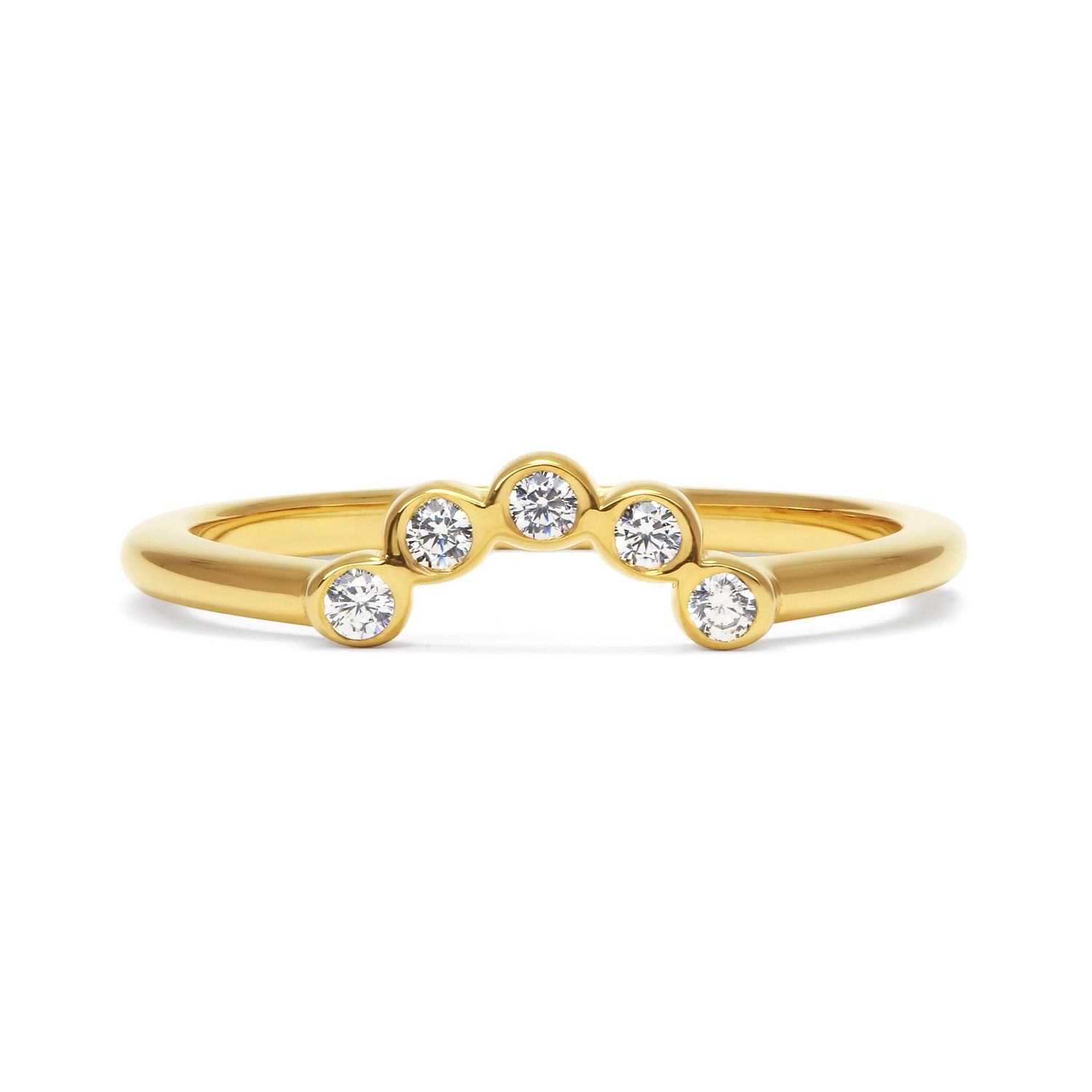 Diamond Coronet Ethical Gold Wedding Ring