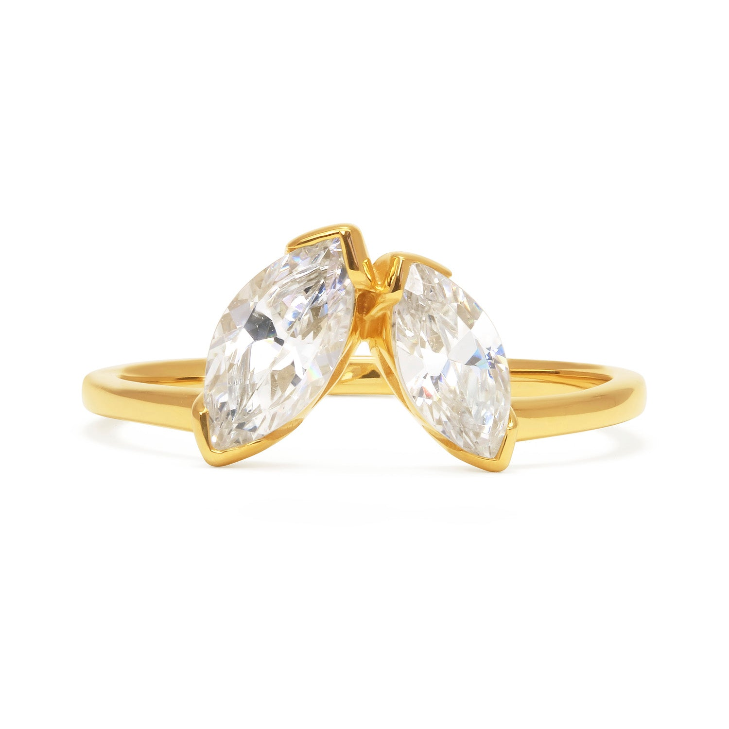 Marquise Diamond Diadem Ethical Ring, 18ct Ethical Gold