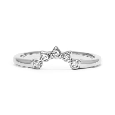 Teardrop Diamond Tiara Ethical Platinum Ring