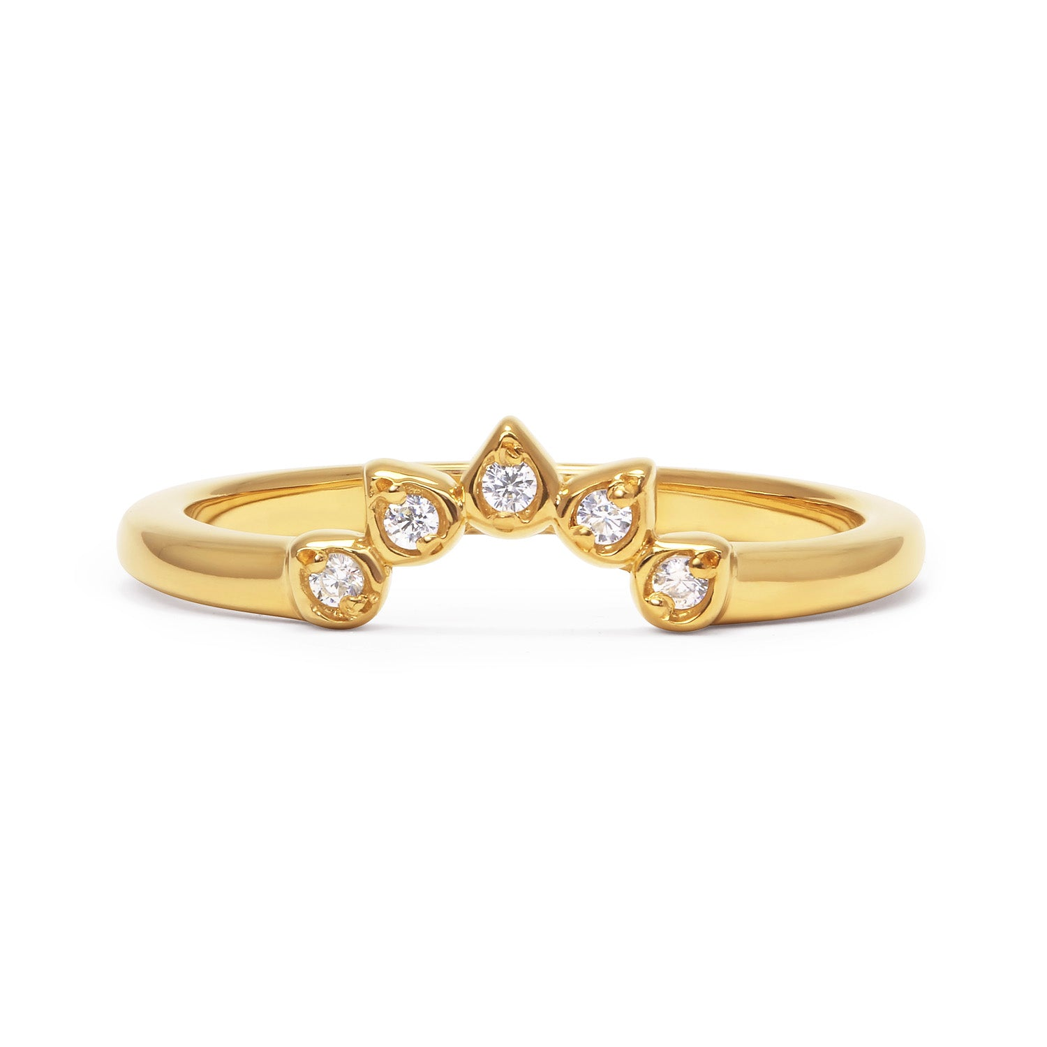 Teardrop Diamond Tiara Ethical Wedding Ring, 18ct Ethical Gold