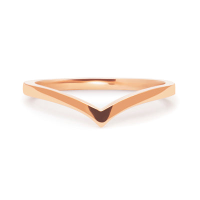 Wishbone Diamond Crown Ethical Ring, 18ct Ethical Gold