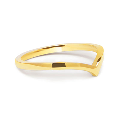Wishbone Crown Ethical Gold Ring