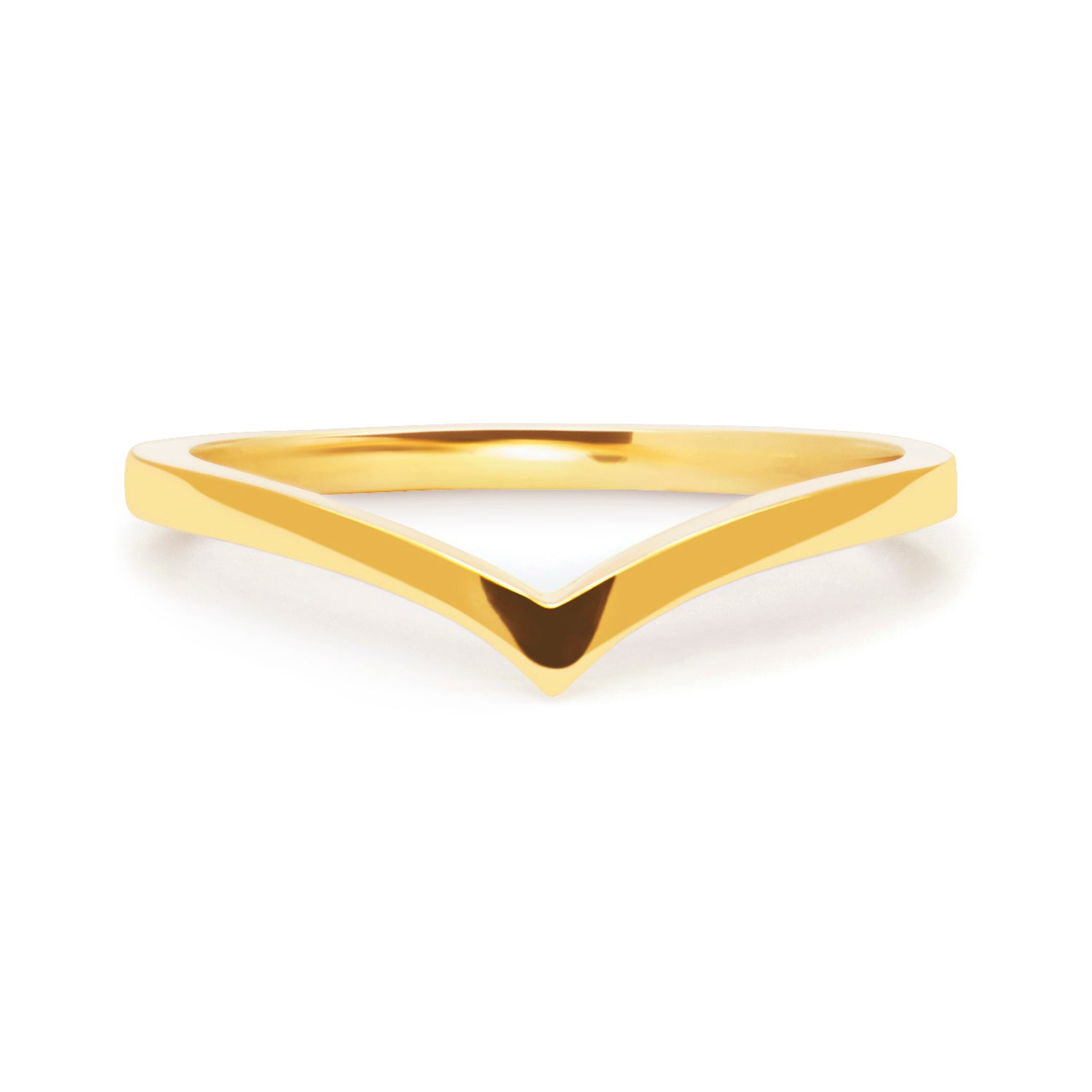 Wishbone Crown Ethical Gold Wedding Ring