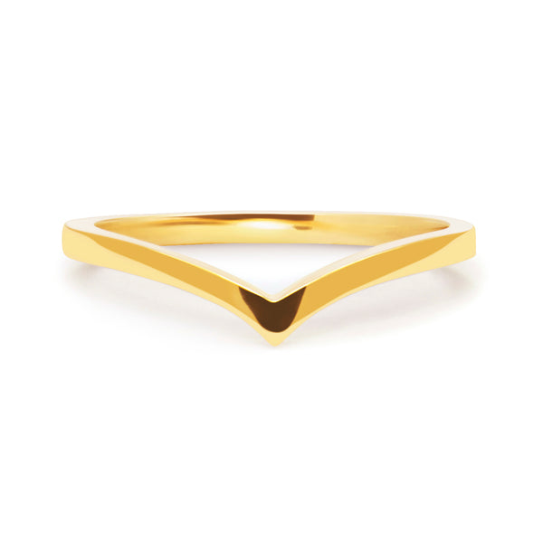Wishbone Crown Ethical Ring, 18ct Ethical Gold