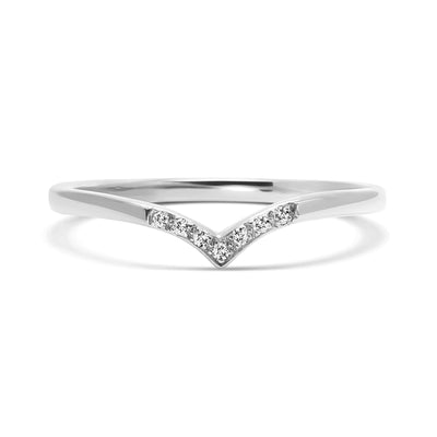 Wishbone Diamond Crown Ethical Ring, Platinum