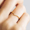 Wishbone Crown Ethical Gold Wedding Ring 9